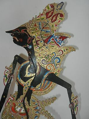 Antique Indonesian Wayang Kulit Shiva Pierced Leather shadow puppet