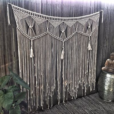 Macrame Wall Hanging 1.4m Wide X1.2m Art Handmade Boho Wedding Backdrop Bohemian