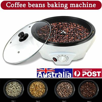 AU 220-240V Coffee Roasters Coffee Bean Baking Machine Household Roasting 1200W