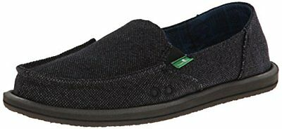 Sanuk Women's Donna Paige Flat,Black,8 M US Womens Loafers Shoes, New