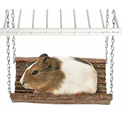 Rody Swing Wooden Hammock Toy Natural Shelf Hideaway for Rabbits Guinea Pigs Rat