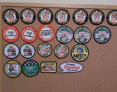 Mixed Lot Of Home Depot Patches Badges