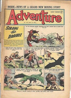 Adventure 1314 (Apr 8, 1950) low grade - Strang by Dudley D Watkins