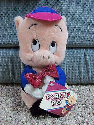 Porky Pig Plush Stuffed Warner Bros. 1987 10""