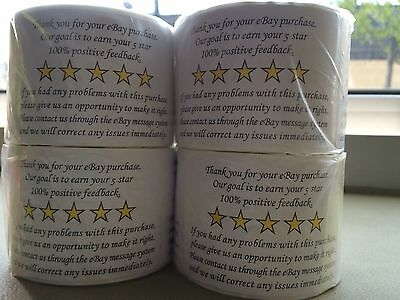 Thank You for your eBay Purchase/FB Stickers Label 2x3 White Peel stick 4 Rolls