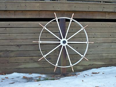 Vintage Ship Wheel From Great Lakes Freighter