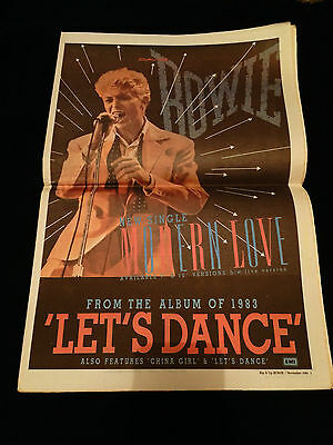 David Bowie 1983 New Zealand Music Paper Magazine Special