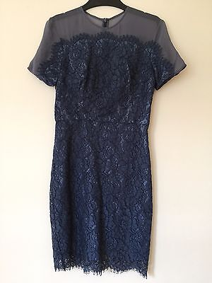 LOVER Lace Dress in Navy Blue  |  Near NEW - SIZE 8