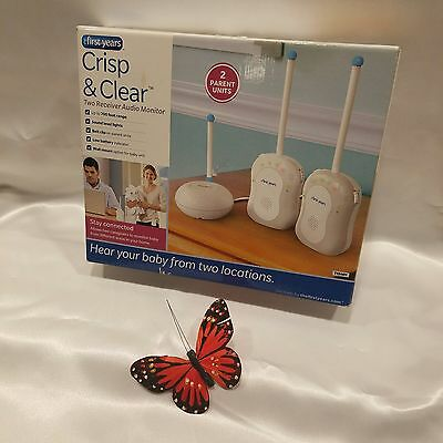 New - The First Years Crisp and Clear Baby Monitor Two Receiver Audio Monitor