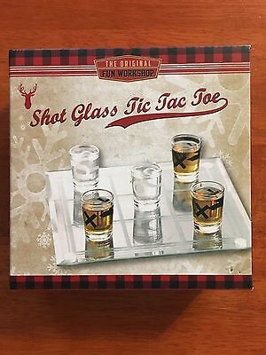 Shot Glass Tic Tac Toe Drinking Game, Great Gift!