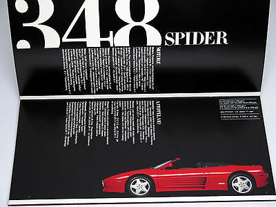 Original Ferrari 348 512 456 Mondial Sales Brochure Catalog 1993 MINT