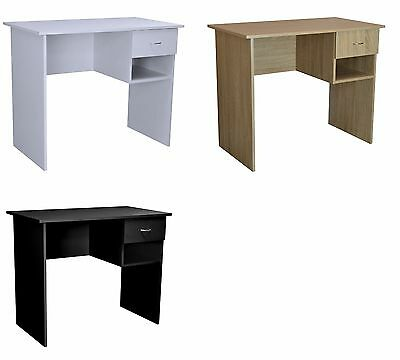 Small Office Desk Computer Study Table Home Work Shelf Workstation Wood Drawer