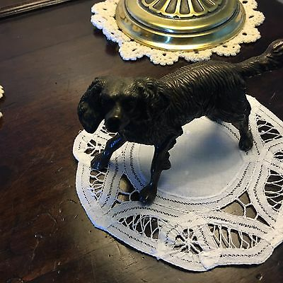 Antique Bronze Patinated Dog of Larger Size