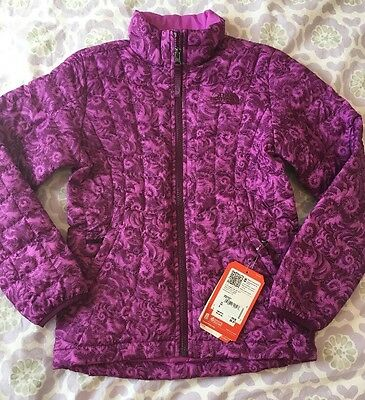 NEW $120 The North Face Girls S 7/8 Purple Thermoball Jacket Winter Puffer Coat
