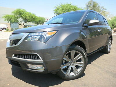 2011 Acura MDX SH-AWD Advance Technology Advance Technology Package Rear TV Drive Assist Every Option 4WD 2012 2010