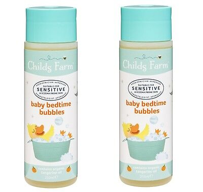 2 x Childs Farm Baby Bedtime Bubbles For sensitive skin and eczema prone skin.