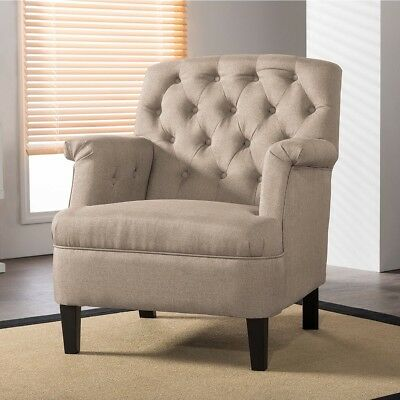 Jester Classic Retro Modern Contemporary Beige Fabric Upholstered Button-tufted