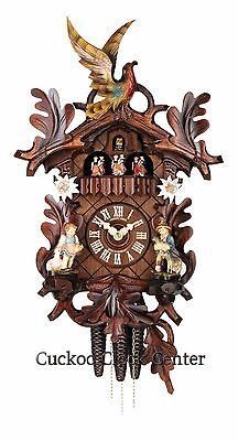 Cuckoo Clock 1-day-movement Carved-Style 48 cm Black Forest by Hubert Herr
