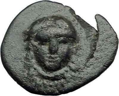 SAMOS Greek Island Off Ionia 300BC HERA LION Authentic Ancient Greek Coin i62733