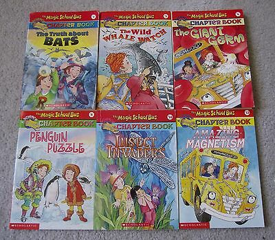 Lot Of 6 The Magic School Bus Science Chapter Books