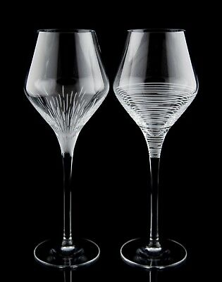 Cristal d'Arques Ose Crystal Water Goblets, Set of (2), Etched