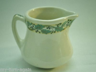 Vintage 1920's Shenango China Indian Albert Pick Pitcher Cream Syrup Railroad