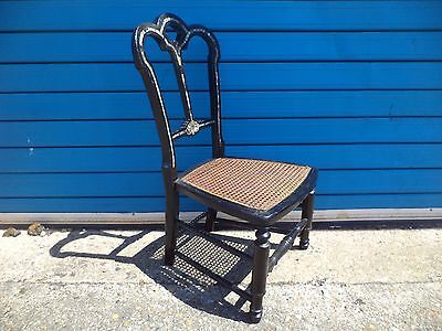 Fine 71 cm Antique Victorian Childs / Large Doll Chair - Mother of Pearl Inlay