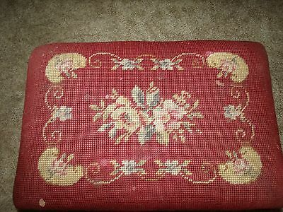 Small Vintage Needlepoint/tapestry Foot Stool