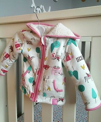 Joules Clothing baby girl coat  3-6