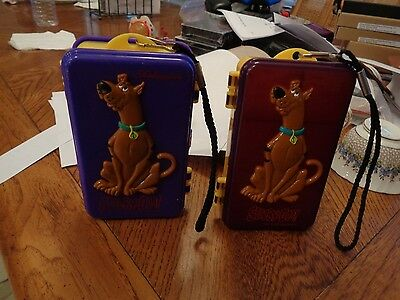 (2) Vintage  Hanna Barbera Scooby-Doo  Plastic Storage  Boxes 1 is double sided