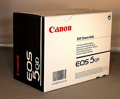 Canon EOS 5QD Camera Body EMPTY BOXES ONLY, NO BODY OR ACCESSORIES