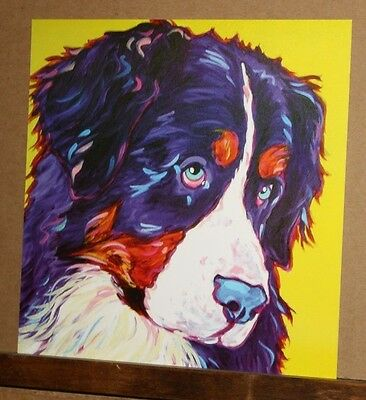 Bernese Mountain Dog by Jody Whitsell Whimsical Colorful Pop Art