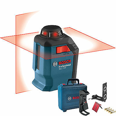 Bosch GLL2-20 360 Degree Self-Leveling Line and Horizontal Cross-Line Laser  New