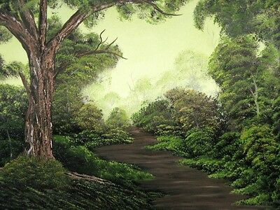 """""""The Path"""" - Original Oil On Canvas Painting By SL Linklater (Signed)"""