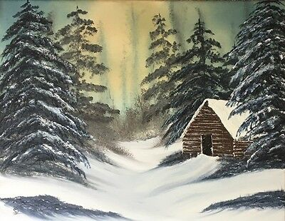 """""""Calm Of Winter"""" - Original Oil On Canvas By SL Linklater - Signed"""