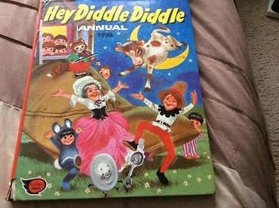 Hey Diddle Diddle 1974 Children's Annual Vintage