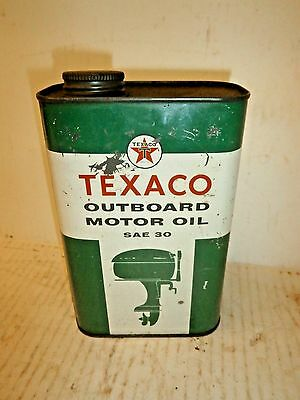 Antique Outboard Motor Oil 1Qt Can - Texaco SAE 30 - boat watercraft inboard  #2