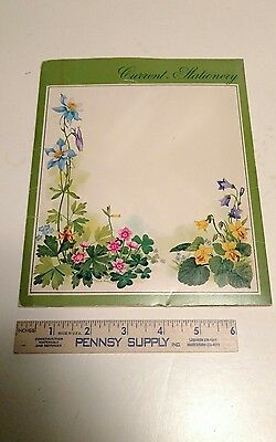 7 Vintage Current Floral Stationary writing kit, envelopes, second sheets