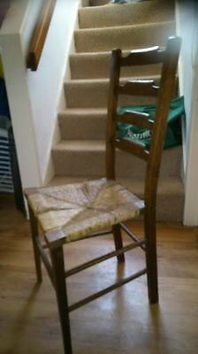 Antique Ladderback Oak Chair
