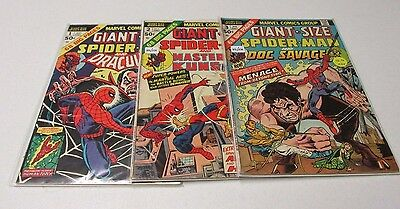 Lot Of Giant-Size Spiderman Comics Issues #1, #2, #3