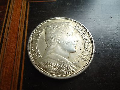 Latvia - 1931 Five Lati - Silver Crown - Very Pretty Example