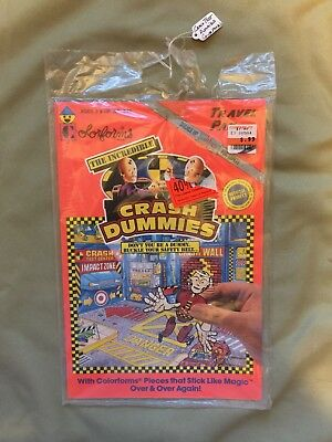 The Incredible Crash Dummies Colorforms Travel Pak - Small Set