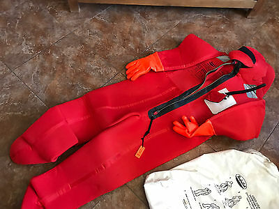 New USCG Bayley Suit/IMMERSION SUIT/Adult Universal/1993/NO RESERVE