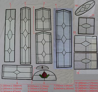 New Leadlight /Stained Glass Lead Light Windows / Door Panels