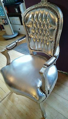French louis chair SILVER ,Shabby Chic