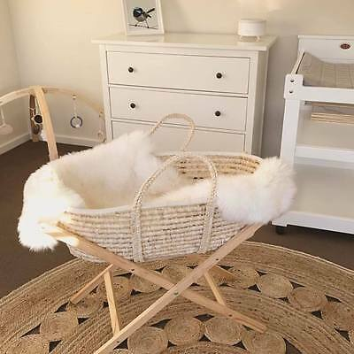 Moses Natural Bassinet Basket + Stand (Tom & Milly brand)