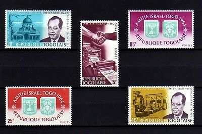 Togo - 1964 - Friendship With Israel - President - Synagogue ++ Mint - Mnh Set!