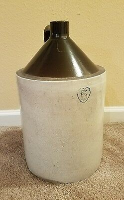 Antique 5 GALLON pottery Whiskey jug ceramic vintage crock  porcelain