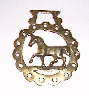 Vintage 60's Brass Horse Equestrian Bridle Medallion Made in England