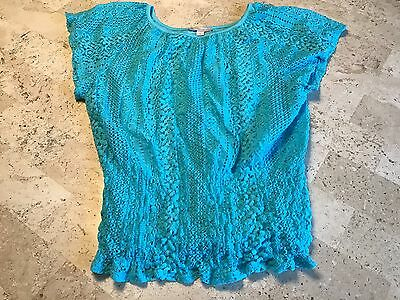 Super Cute Dressbarn Teal Ss Shirt Size S